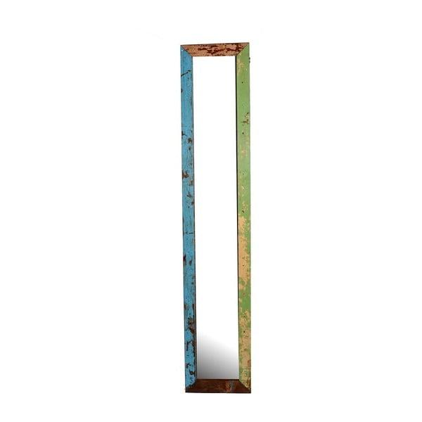 Zrcadlo Orient 29x120 cm, barevná patina