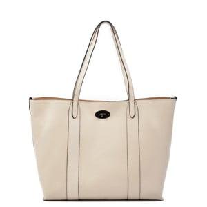 Béžová kožená kabelka Carla Ferreri Gala Beige