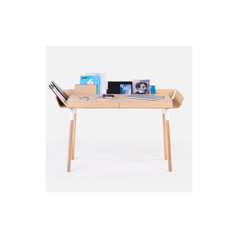 Přírodní psací stůl se 2 šuplíky Emko My Writing