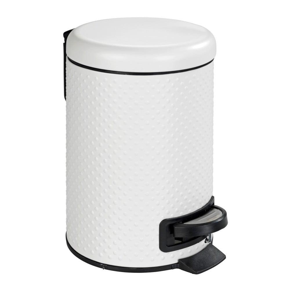 Bílý koupelnový odpadkový koš z oceli Wenko Punto,3l Wenko