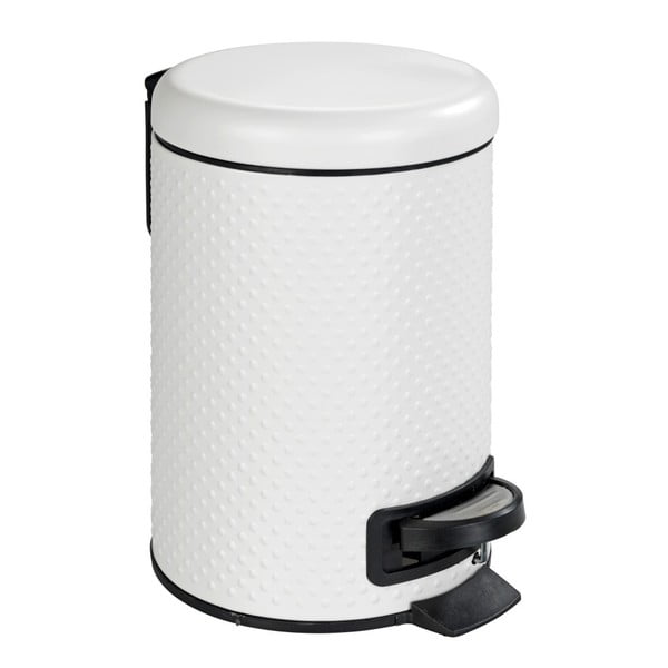 Bílý koupelnový odpadkový koš z oceli Wenko Punto,3l