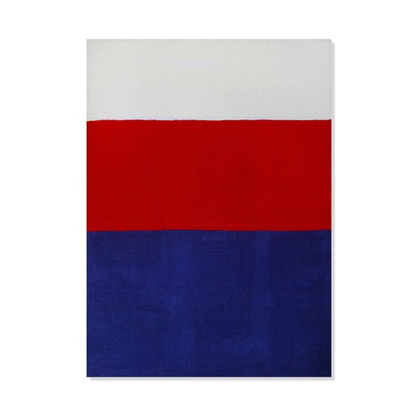 Dětský koberec Mavis Blue and Red Stripes, 100x150 cm