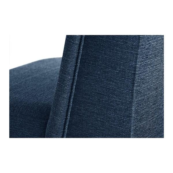 Modrá židle s černými nohami z bukového dřeva Ted Lapidus Maison Zeste
