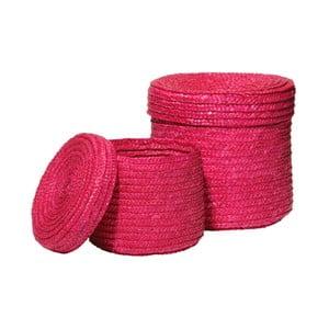 Sada 2 růžových košíků na drobnosti Premier Housewares Straw