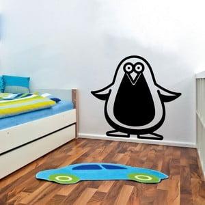 Samolepka na stěnu Penguin, černá