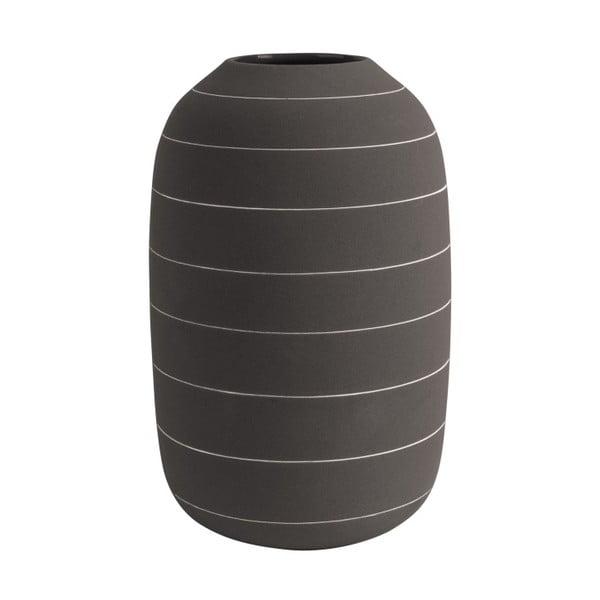 Vază din ceramică PT LIVING Terra, ⌀ 16 cm, maro închis