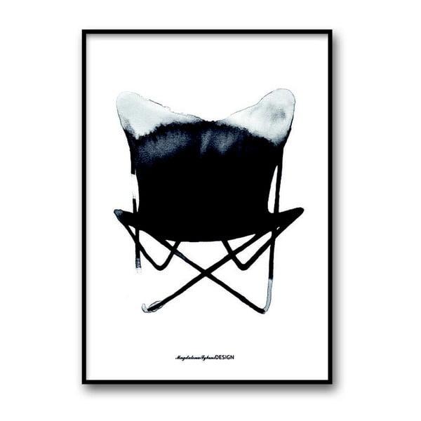 Autorský plakát Chair Butterfly, 30x40 cm