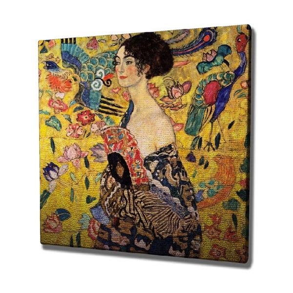 Vászon fali kép Gustav Klimt másolat, 45 x 45 cm