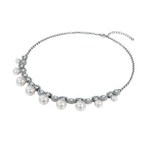 Dámský náhrdelník stříbrné barvy Runaway Pearls