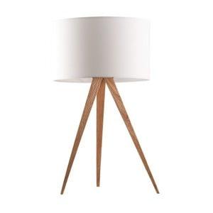 Bílá stolní lampa Zuiver Tripod Wood