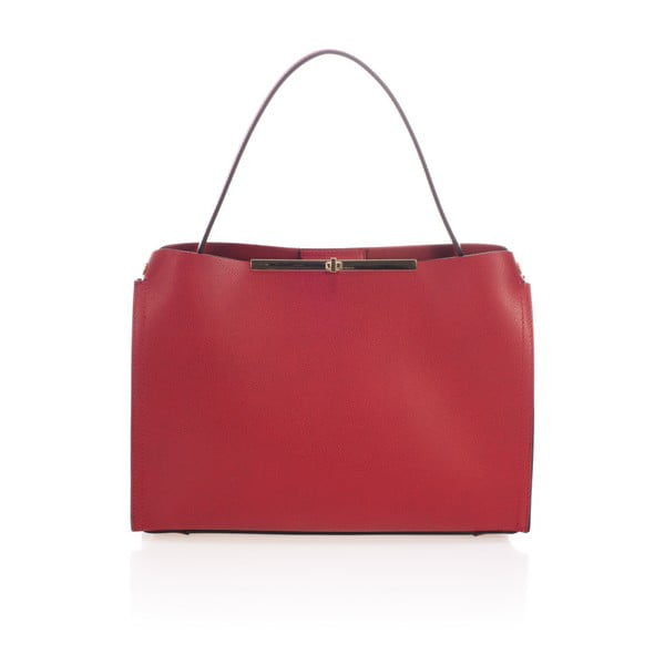 Czerwona torebka skórzana Lisa Minardi Ganna