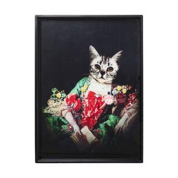 Tablou în ramă Kare Design Lady Cat, 80 x 60 cm de la Kare Design