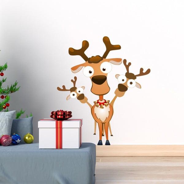 Autocolante Crăciun Ambiance Noel Les Rennes Malicieux