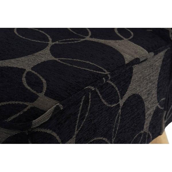 Křeslo Vaasa, černošedý textilní potah
