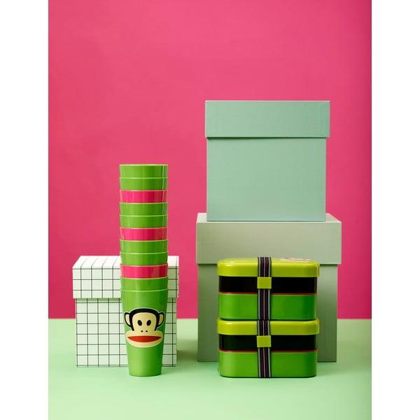 Cutie pentru gustare, 2 nivele, LEGO® Paul Frank, verde
