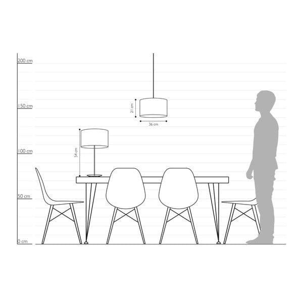 Černo-stříbrná stolní lampa Sotto Luce MIKA M 1T