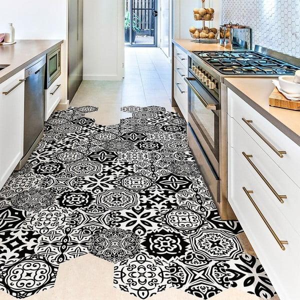 Set 10 autocolante impermeabile pentru podea Ambiance Liana, 20 x 18 cm