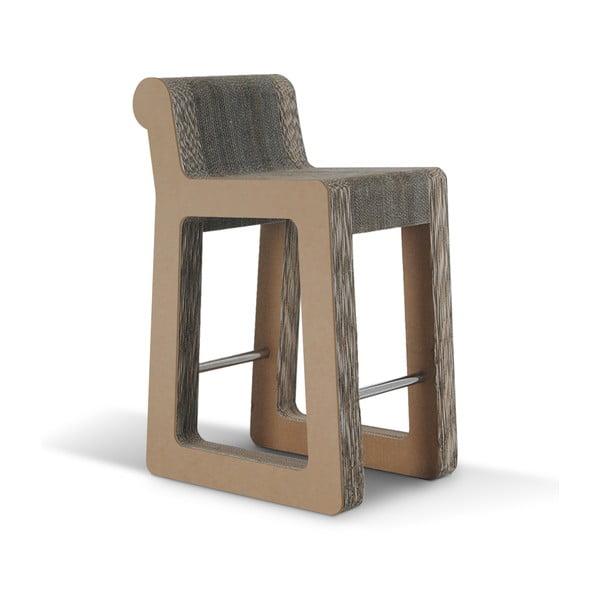Barová kartonová židle Knob Stool Natural