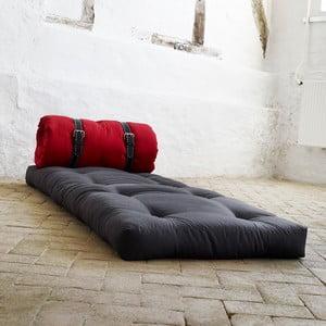 Křeslo/matrace Buckle up, 70 cm, šedá/červená