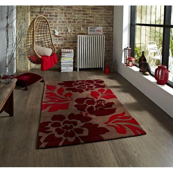 Hnědo-červený koberec Think Rugs Hong Kong Red, 120x170cm
