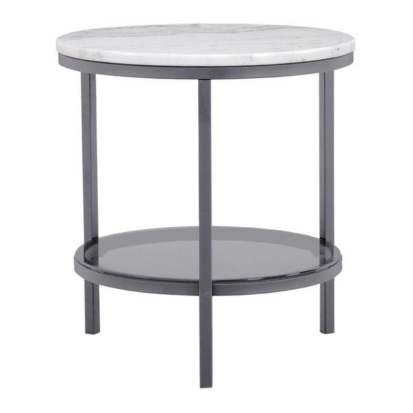 Mramorový odkládací stolek s šedou konstrukcí RGE Ascot, ⌀50cm