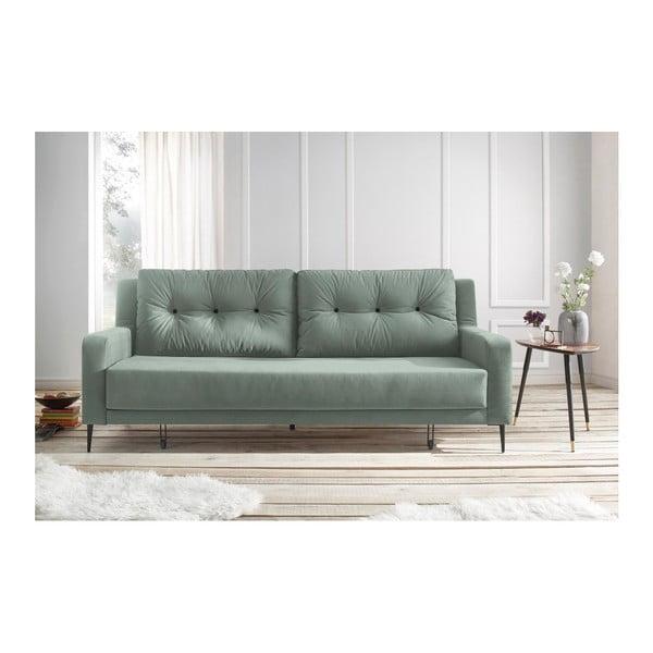 Jasnozielona sofa rozkładana Bobochic Paris Bergen