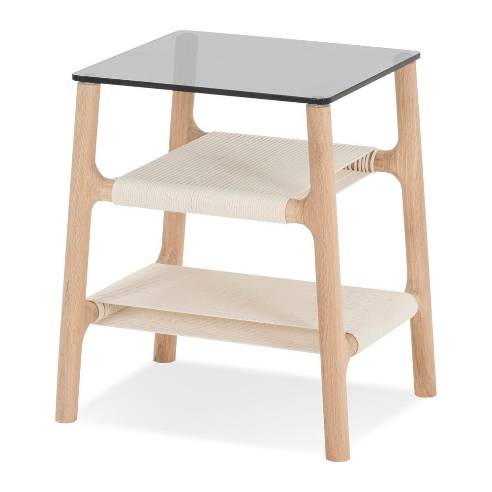 Odkládací stolek z masivního dubového dřeva Gazzda Fawn