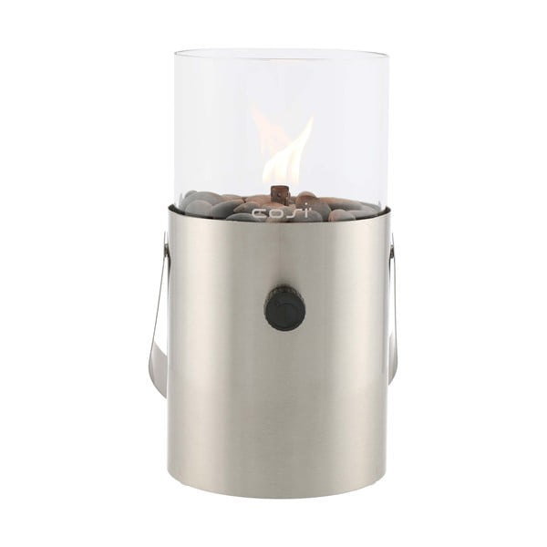 Matně stříbrná plynová lampa Cosi Original, výška 30 cm