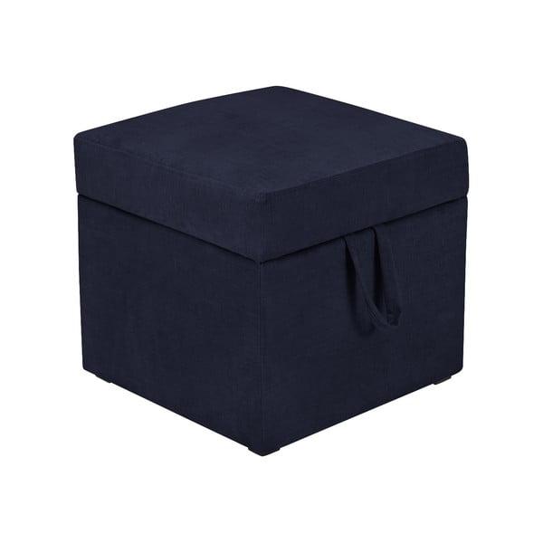 Cube sötétkék zsámoly tárolóhellyel - KICOTI