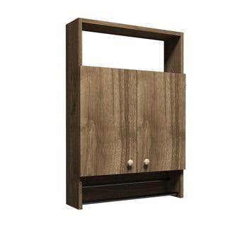 Dulap pentru baie în decor de lemn de nuc Muzzo Ela imagine
