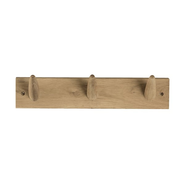 Wieszak ścienny z drewna dębowego Canett Uno, szer. 40 cm
