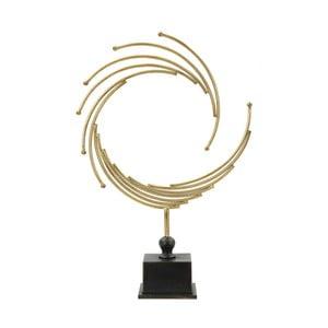 Dekorativní soška ze železa ve zlaté barvě Mauro Ferretti Round