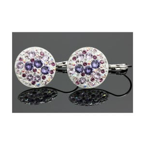 Náušnice Swarovski Elements Violet Mix