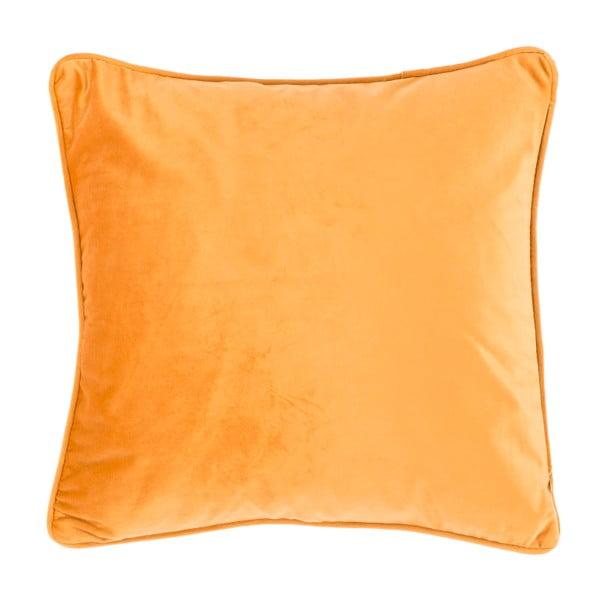 Velvety világos narancssárga díszpárna, 45 x 45cm - Tiseco Home Studio