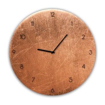 Ceas de perete Styler Glassclock Copper ⌀ 30 cm