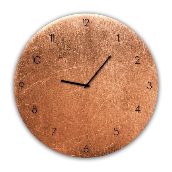 Nástěnné hodiny Styler Glassclock Copper, ⌀ 30 cm