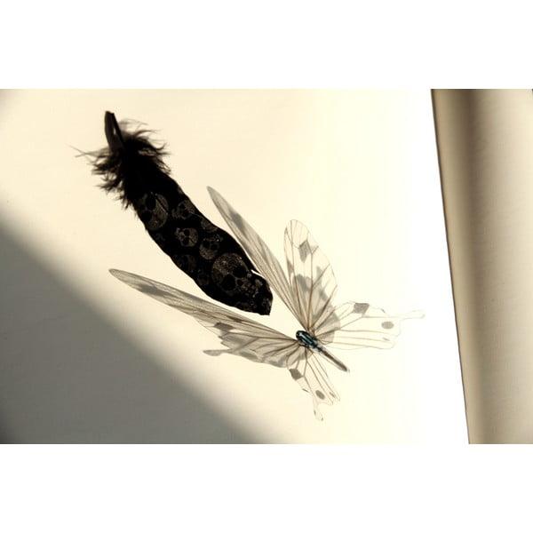 Sada 18 bílých adhezivních 3D samolepek Ambiance Butterflies Chic