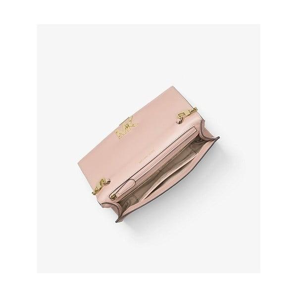 Světle růžové kožené psaníčko Michael Kors Mott