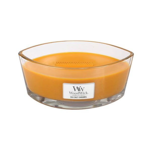 Vonná svíčka WoodWick Mořská sůl a karamel, 453 g, 50 hodin