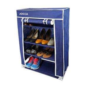 Modrý textilní úložný box na boty JOCCA, 80x60cm