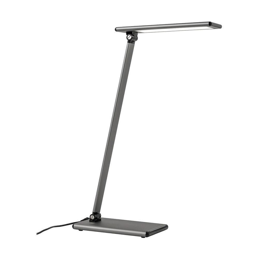 Šedá stolní lampa s LED světlem SULION Hawking