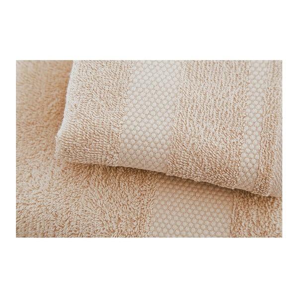 Sada 2 béžových ručníků Tommy