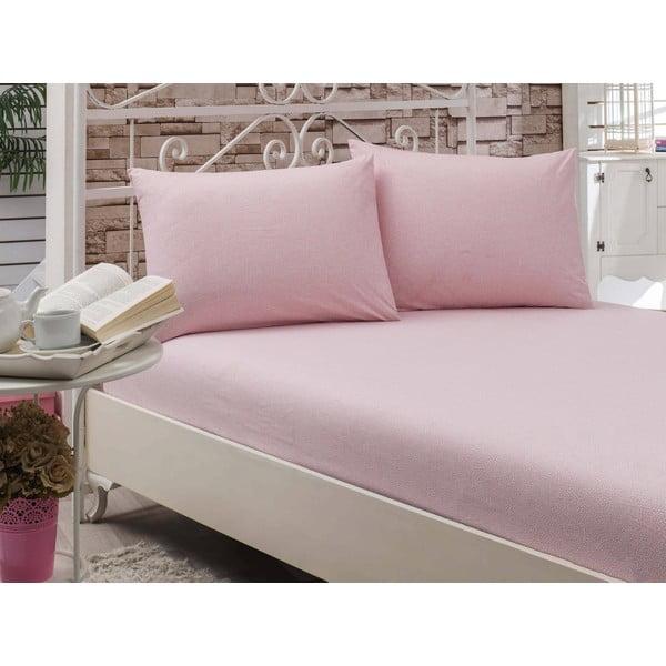 Prostěradlo Circle Pink, 160x200 cm