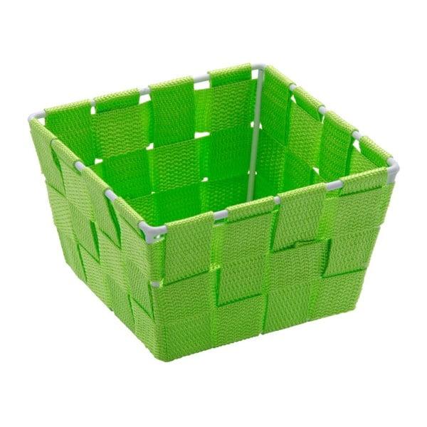 Zelený úložný košík Wenko Adria, 14 x 14 cm