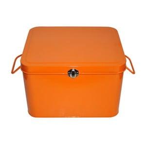 Plechový úložný box Waterquest, oranžový