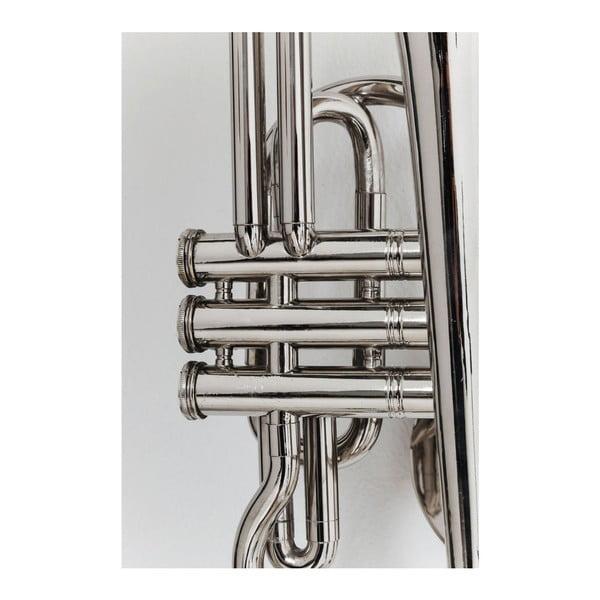 Cuier perete Kare Design Trumpet Jazz, argintiu