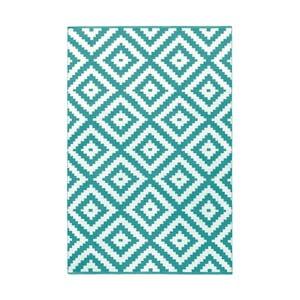 Tyrkysovo-šedý oboustranný koberec vhodný i do exteriéru Green Decore Ava Malo, 120 x 180 cm