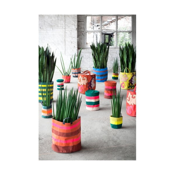 Sada 6 plátěných košíků Marie Lines, 12 cm