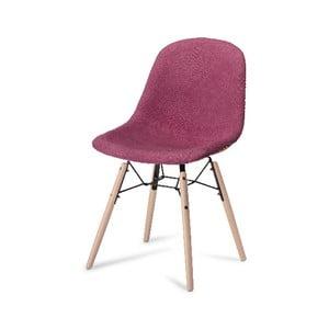 Růžová jídelní židle s nohami z bukového dřeva Furnhouse Sun