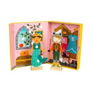 Sada 2 převlékacích panenek s magnetickým oblečením Petit collage Fairy Tales